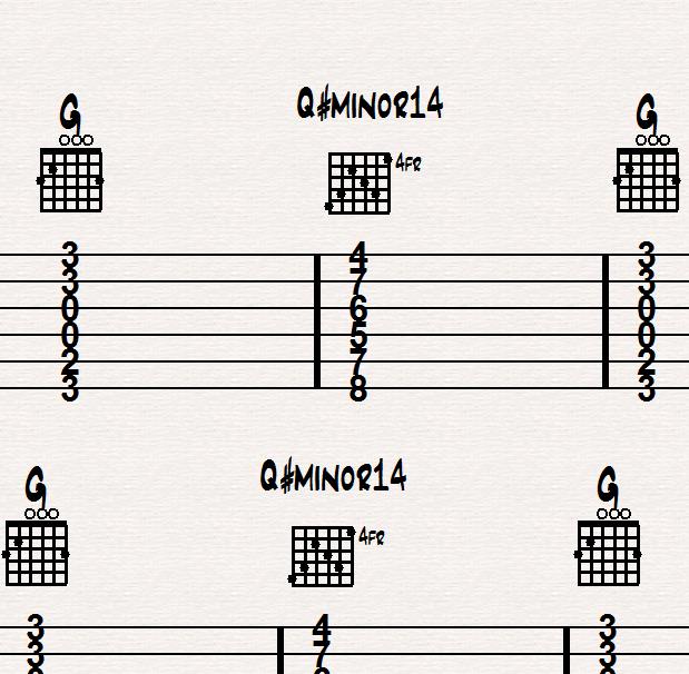 Playing Tough Chord Changes on Guitar, Method 2